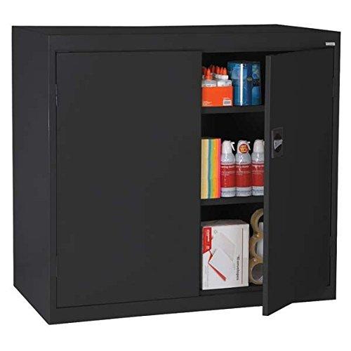 Sandusky Lee Standard-Industrial Storage Cabinets - 46X24x42 - 3 Shelves - Black - Black