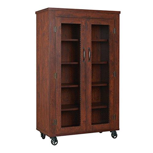 ioHOMES Naveen Industrial Storage Cabinet Vintage Walnut