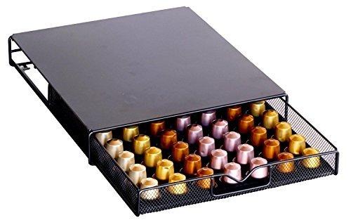 Decobros Coffee Pod Storage Mesh Nespresso Drawer Holder for 56 Capsules