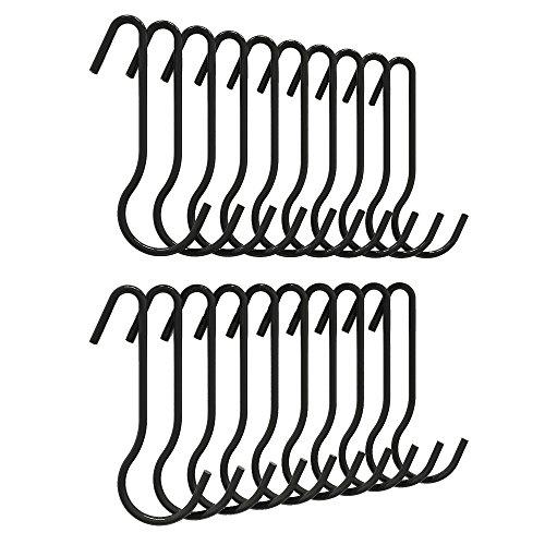 ZESPROKA Kitchen Pot Rack Hooks20 hooks per setBlack