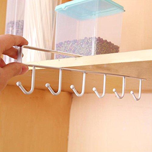 MSOO Kitchen Storage Rack Cupboard Hanging Hook Hanger Chest Storage Organizer Holder White