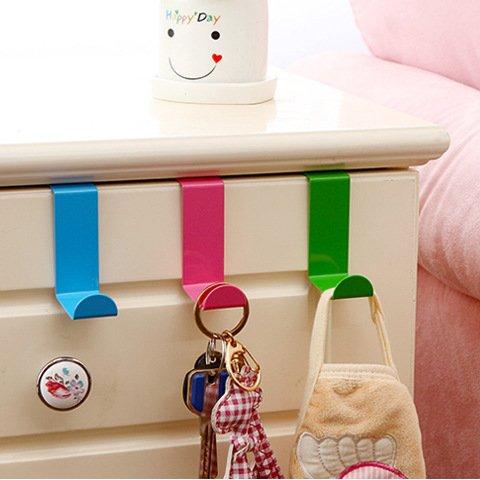 2pcsset Stainless Steel Cabinet Door Drawer Hooks Clothes Hanger Towel Holder Home Organizer Kitchen Accessories Green
