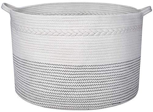XXXLarge Cotton Rope Basket Toy Basket Throw Blanket Basket and Large Storage Basket