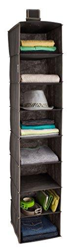 ClosetMaid 31454 8-Shelf Hanging Closet Organizer Gray