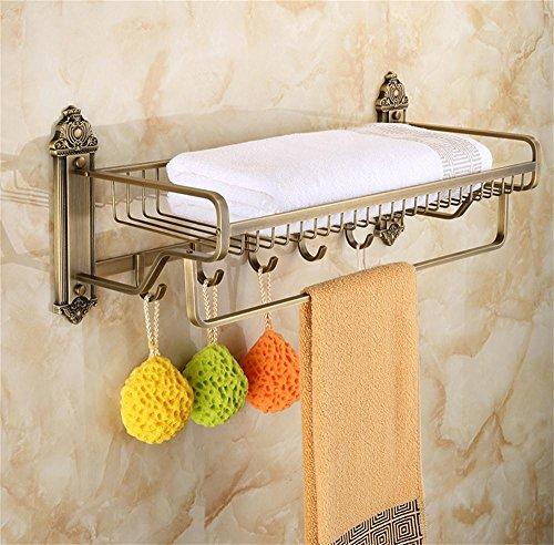 ALUS- European Retro Copper bathroom shelf bathroom towel rack metal pendant