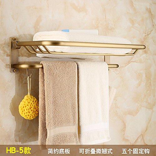 Antique Bathroom shelf fold shower bathroom racks Metal hanging copper brushed towel rack model 5