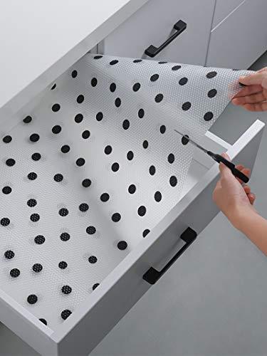 GLOW4U EVA Washable Non Adhesive Shelf Liner for Kitchen Cabinets Bathroom Refrigerator Pantry Closet Dresser Drawer
