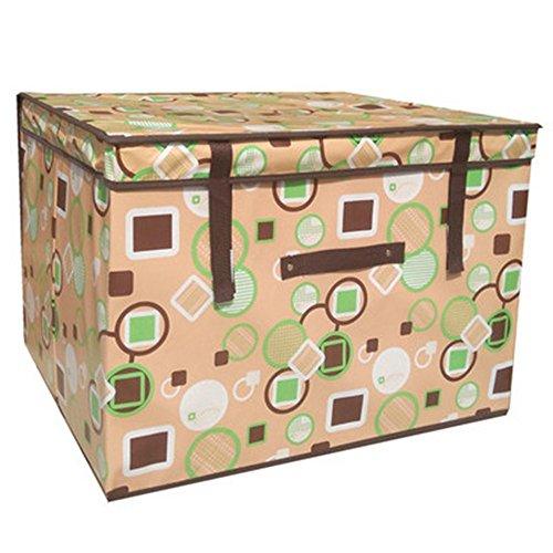 in like Clothes Storage Box Multi Pattern Storage Containers Creative Clothes Basket Necktie Socks Storage Organizer Bins 1PC Geometric coffee