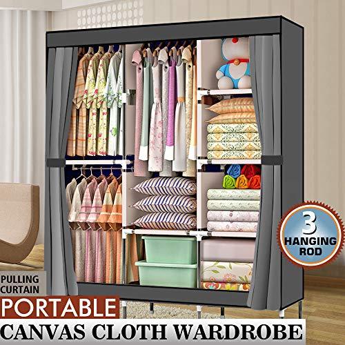 MC Heavy Duty 4 Tier Portable Closet Home Wardrobe Clothes Rack Storage Organizer