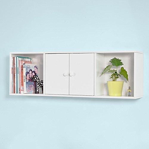Haotian White 3 Sections Wall Storage Unit Wall Cabinet Entryway Shelf entryway organizer FRG99-W