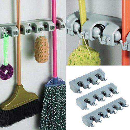 Generic YC-US2-160321-90 8&31731 Tool Er Brush Bro Brush Broom Wall Mounted Mop Hanger Storage Organizer Holder Rack Kitchen Tool E Wall Mounte