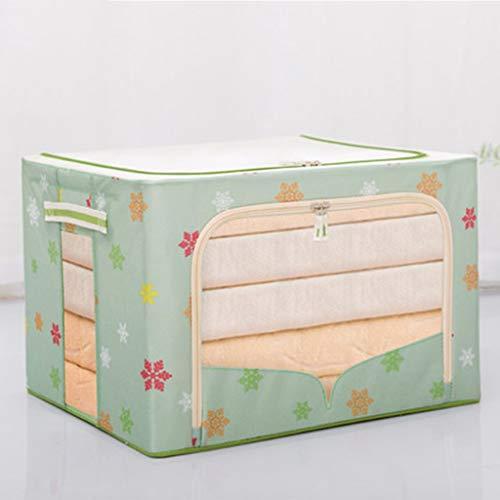 ZYFDT -Storage Box Storage Box Fabric Oxford Folding Clothes Storage Box Moving Storage Box Color  Green