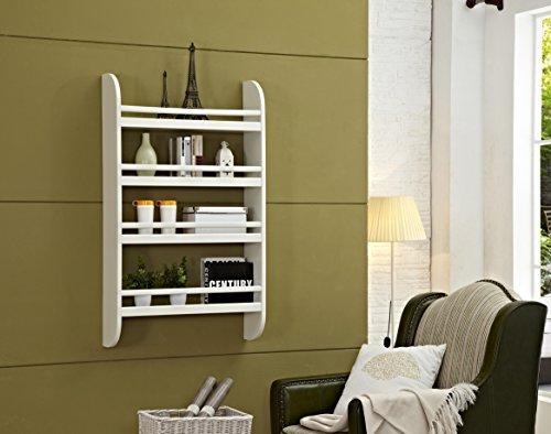 Mixcept Wall Mounted Rack Wall Storage Shelf Kitchen Spice Rack Bathroom Organizer Shelf WF01OW
