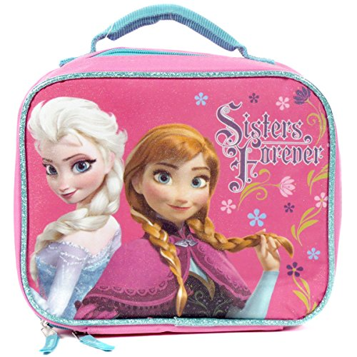Disney Frozen Princesses Anna and Elsa Sister Forever Insulated Lunch Bag