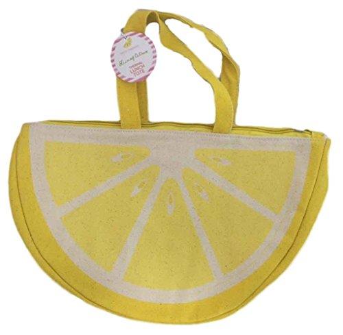 Twos Company Citrus Fruit Insulated Tote Bag Lemon