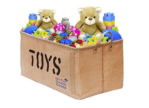 Extra Large 22 Inch Jute Storage Container Bin Basket Organizer EASY  Organizing Toy Storage Baby Kids