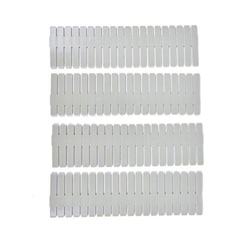 4 PcsSet Grid Drawer Dresser Divider Household Storage Organizer25cm7cm by Crqes