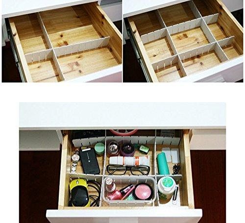 6 PCS DIY Grid Drawer Divider Storage Organizer Partitions Free Combination Drawer Organizers