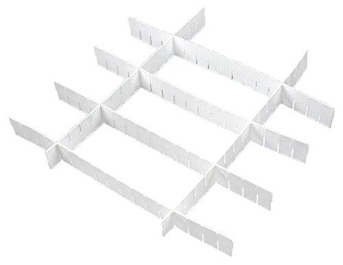 C-Pioneer 6Pcs DIY Grid Drawer Divider Household Necessities Storage Organizer Plastic