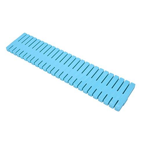 TOOGOOR 4x Plastic Drawer Clapboard DIY Grid Drawer Divider Household Necessities Storage Organizer For Home (BLUE)L32 7cm
