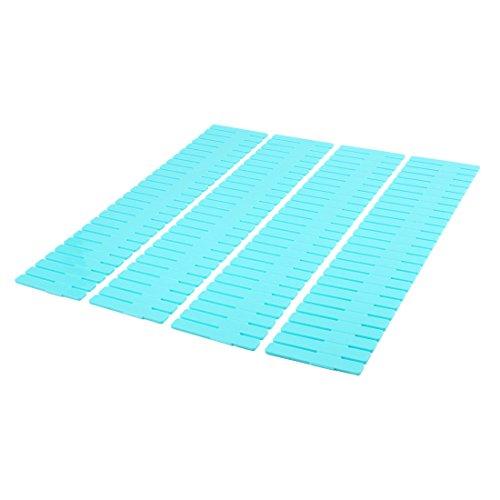 uxcell Home Closet Grid Drawer Divider Container Storage 32cmx7cm 4pcs Blue
