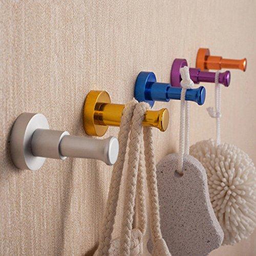 C&C Products Space Aluminum Colored Single Hook Decorative Hanger