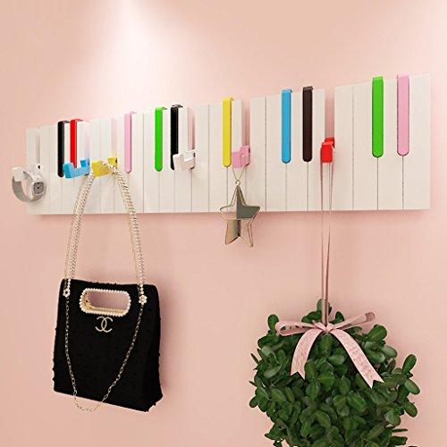 Creative Piano Hooks Coat Rack Wall Decorative Hanger  Color  Multi-colored