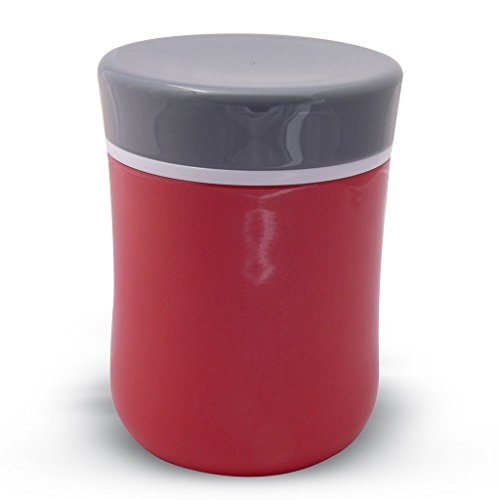 Zell Lunch Food Jar Vacuum Insulated Stainless Steel Lunch Thermos 13 Oz Red