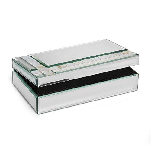 American Atelier Shell Stones Mirror Jewelry Box 94 x 55 x 25-Inch
