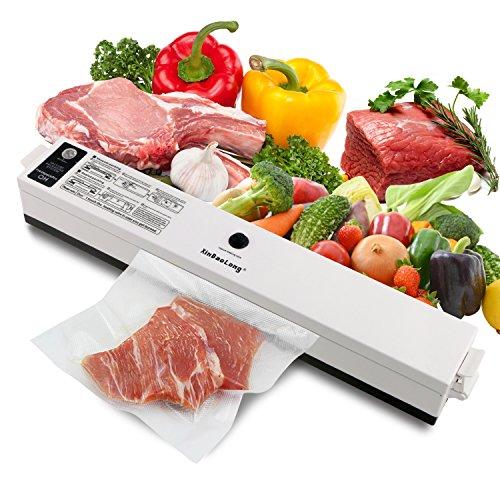 ONME Food Saver Vacuum Sealer Machine with Starter Kit Vacuum Sealer for Food Preservation for Food Sealers Vacuum Packing Plus 15 Pcs 116 Sealer Bags
