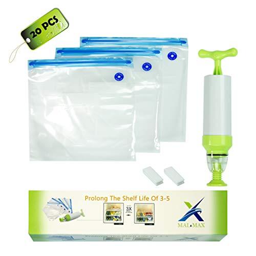 Vacuum Food Storage Bags Sous Vide Sealer Bag Hand Pump - BPA Free
