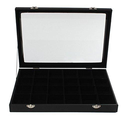 Jewelery Storage Box - TOOGOOR24 Grids Glass Jewelery Earrings Tray Necklaces Bracelets Display Storage Box UK