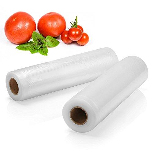 2 Pack Food Sealers Bags - Fivanus 11 x 15 Commercial Vacuum Sealer Rolls Food Storage Saver Compatible to Foodsaver Sous Vide total 30 feet