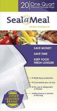 Rival VSB4-6 Seal-a-Meal 1-Quart Vacuum Sealer Bags by FoodSaver
