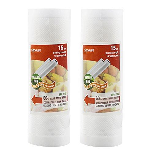 Creation Core Kitchen Commercial Grade Food Storage Saver Vacuum Sealer Bags Roll2PCS 59x197