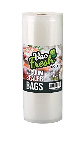 Vac-Fresh Roll 8 x 50 Vacuum Seal Bags 35mil VF850 for Vacuum Sealers - 1 Roll