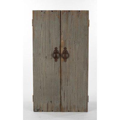 StealStreet SS-Tri-15468 Grey Wooden Wall Jewelry Storage Cabinet