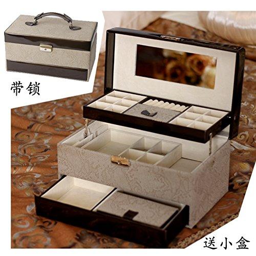 European large wooden jewelry box with lockvintage trinket boxjewelry storage box-A