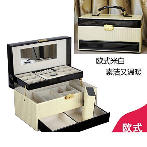 European large wooden jewelry box with lockvintage trinket boxjewelry storage box-B