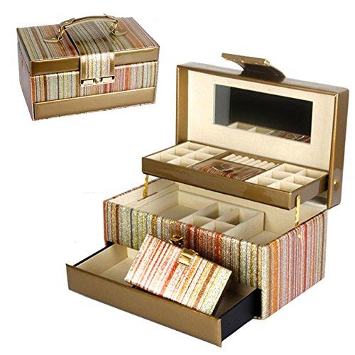 European large wooden jewelry box with lockvintage trinket boxjewelry storage box-F