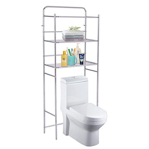 Bathroom Tower Shelf 3 Tier Rack Over The Toilet Storage Organizer Space Saver