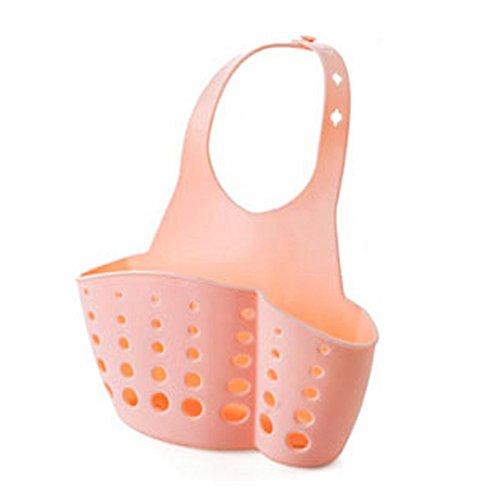 Stebcece Pink Hanging Drain Basket Storage for Kitchen Bathroom