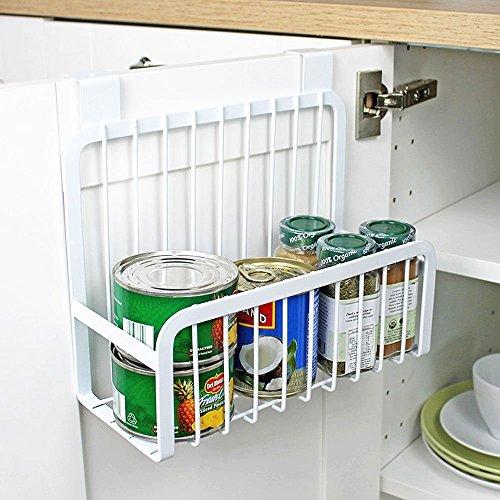Over the Door Cabinet Storage Basket Kitchen Hang Shelf Organizer Storage Basket