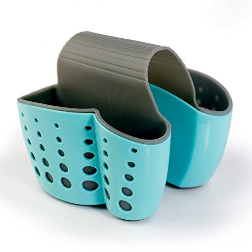 Sponge Holder Sink Caddy Soap Holder for Kitchen Organization Plastic Storage Baskets BLUE