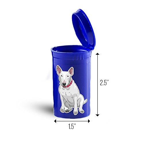 Bull Terrier Dog Storage Organizer Bin for Vitamins Supplements Health Supplies ID 1638B