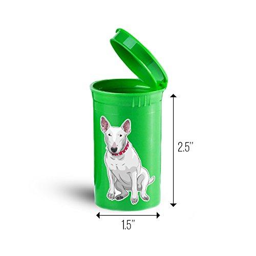 Bull Terrier Dog Storage Organizer Bin for Vitamins Supplements Health Supplies ID 1638G