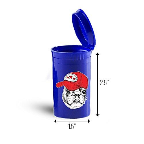 Cool Bulldog Storage Organizer Bin for Vitamins Supplements Health Supplies ID 1647B