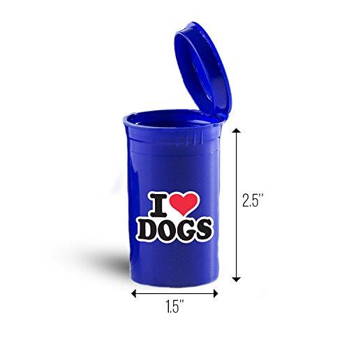 I Love Dogs Storage Organizer Drug Pill Case ID 1206B
