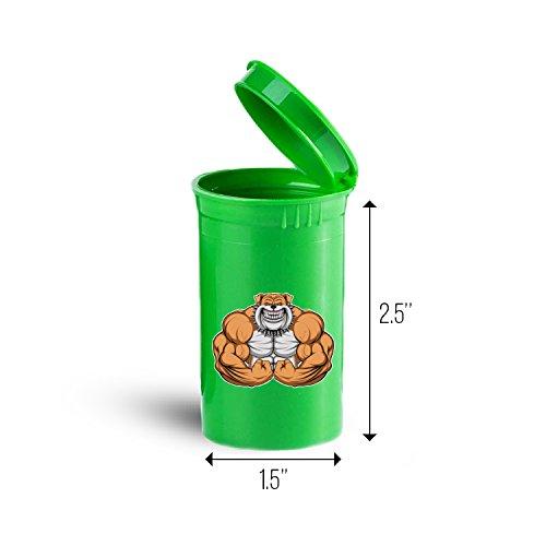 Muscular Bulldog Storage Organizer Bin for Vitamins Supplements Health Supplies ID 1705G