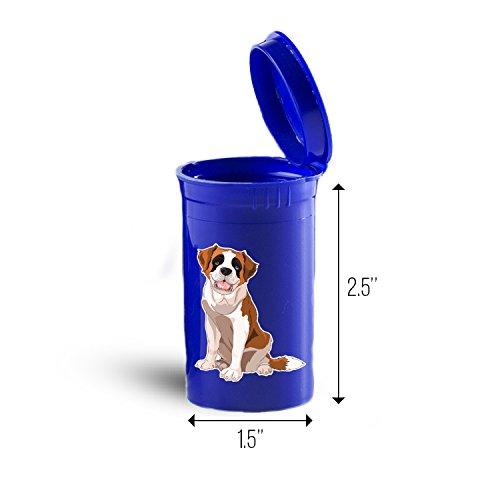 St Bernard Dog Storage Organizer Drug Pill Case ID 1433B